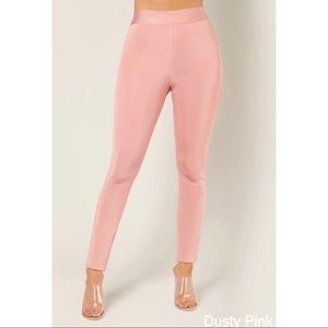 🆕 WOW COUTURE Ballet Pink Ribbed Leggings NWT